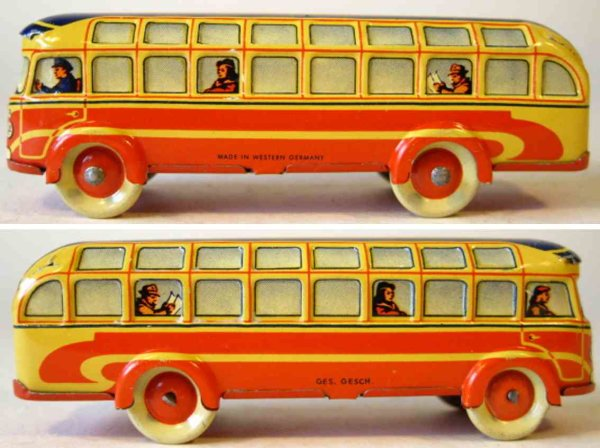 Fischer Georg Tin-Penny Toy Bus