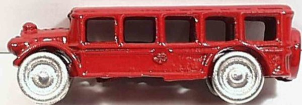 Hubley Cast-Iron buses Cast iron bus with  nickeled wheels