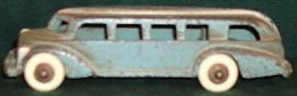 Hubley Cast-Iron buses Bus, blue paint