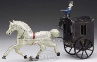 Brown George Tin-Carriages Horse drawn cab attributed to...