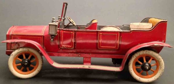Bing Tin-Oldtimer Elegant convertible with clockwork, the driver is missing on