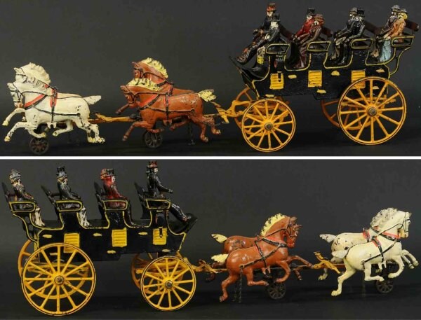 Pratt & Letchworth Cast-Iron-Carriages A scarce toy, an exceptional example painted in black with b