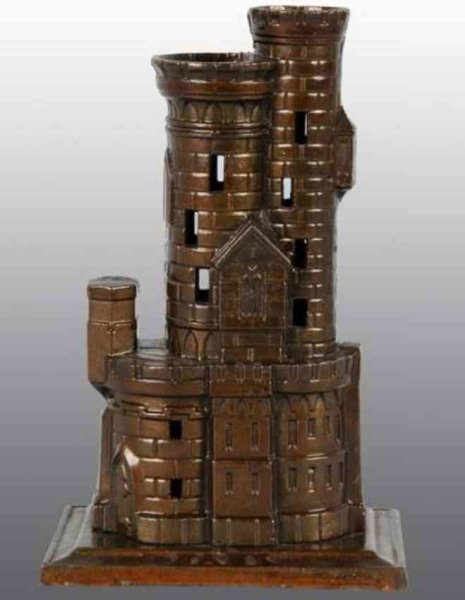 Harper Co John Cast-Iron-Mechanical Banks Castle with 2 towers still bank of cast iron,  finely deta