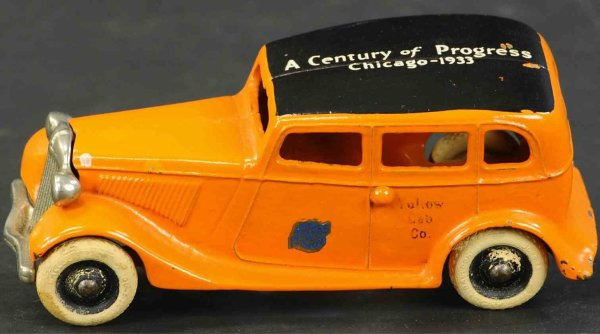 Arcade Cast-Iron Oldtimer Ford Chicago cab, A Century of Progress, Chicago 1933 sten