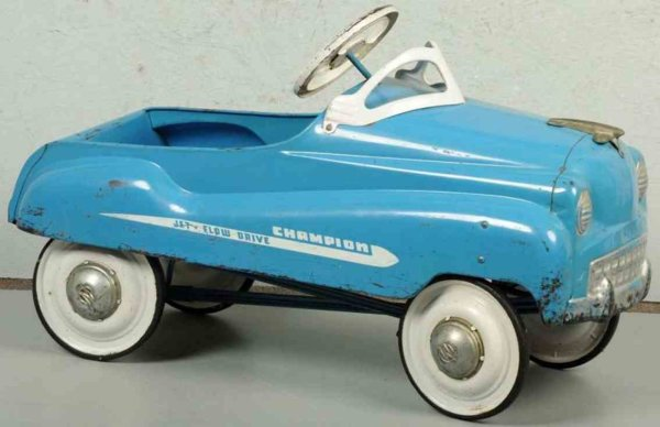 Murray Tin-pedal cars Pressed steel Champion pedal car, jet flow drive with nickel