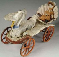 Stevens Co J. & E. Cast-Iron-Carriages Swan chariot, As...