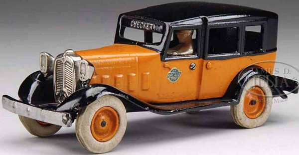 Arcade Cast-Iron Oldtimer Checker cab, possibly the finest known example to exist, Rig