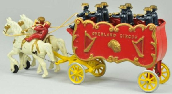 Kenton Hardware Co Cast-Iron-Carriages Overland circus band wagon of cast iron, horse drawn open wa