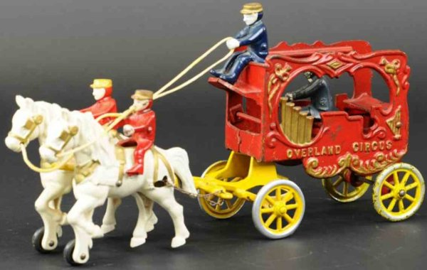 Kenton Hardware Co Cast-Iron-Carriages Overland circus calliope wagon, made of cast iron,  painted
