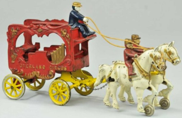 Kenton Hardware Co Cast-Iron-Carriages Overland circus calliope of cast iron, rare figures, extensi
