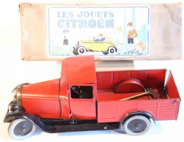 CIJ Tin-Trucks Les Jouets Citroen, Camionette Citroën B14, clockwork engine