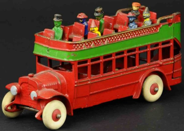 Kenton Hardware Co Cast-Iron buses City bus made of cast iron, painted in red body with green s