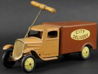 Steelcraft Tin-Trucks Delivery truck made of pressed...