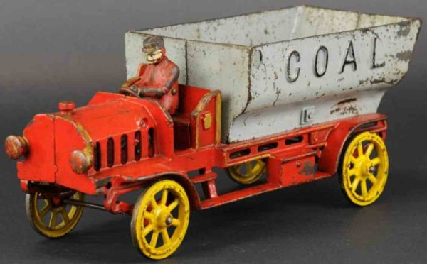 Hubley Cast-Iron trucks Coal truck,  large and impressive casting, open seat cab pai