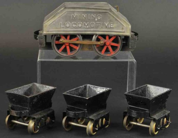 Carlisle & Finch Railway-Trains Mining loco and three tip cars, set includes nickel plated p