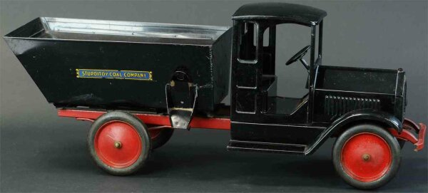 Sturditoy Tin-Trucks Coal truck made of pressed steel, painted in black overall,