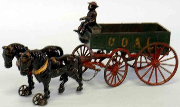Ives Cast-Iron-Carriages Coal Wagon