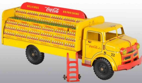 Marx Tin-Trucks Lumar Coca-Cola tuck of pressed steel includes original pres
