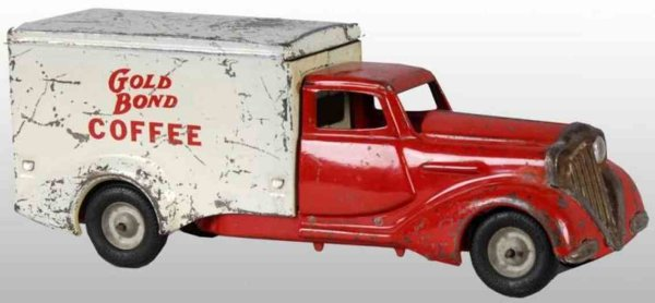 Metalcraft Corp. St Louis Tin-Trucks Gold Bond Coffee truck made of pressed steel, marked Gold B