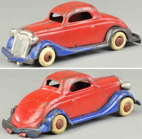 Williams AC Cast-Iron Oldtimer Coupe made of cast iron, painted in red body, blue frame, ni