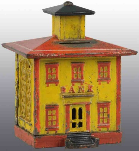 Stevens Co J. & E. Cast-Iron-Mechanical Banks Cast iron cupola still bank, in each two colors