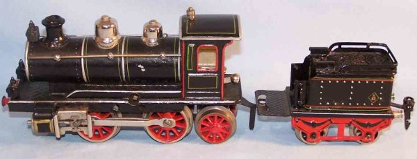 Maerklin Railway-Locomotives Clockwork steam locomotive #D 1020  with tender, hand-painte