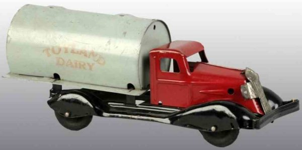 Marx Tin-Trucks Toyland Dairy truck of pressed steehl, marked TOYLAND DAIRY