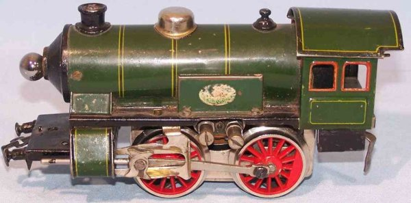 Doll Railway-Locomotives Steam locomotive No. 4/450 made of tin and cast iron, lithog