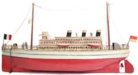 Falk Tin-Ships Ocean liner with clockwork, mostly painted