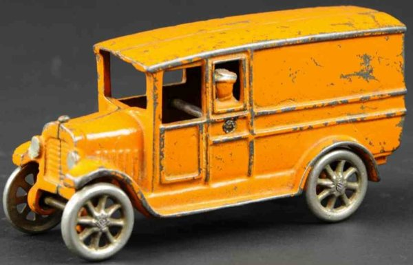 Freidag Cast-Iron trucks Panel delivery truck, desirable example, cast iron, painted