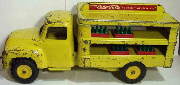 Buddy L Tin-Trucks Delivery truck with eight cases of Coke.