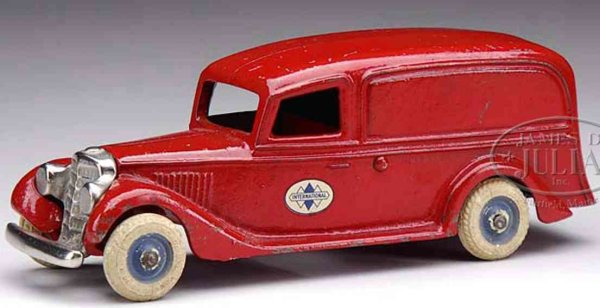 Arcade Cast-Iron trucks Boat tail panel truck, a classic streamline delivery van, th