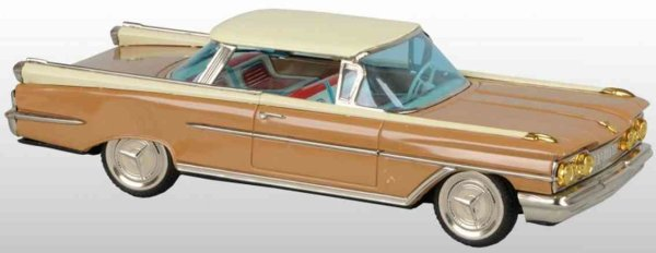 Ichiko Tin-Cars Oldsmobile Delta 88 of tin with friction drive,  pictured in