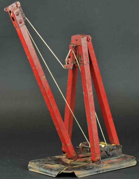 Kiddies Metal Toys Tin-Toys Derrick truck Elizabeth, NJ, industrial collapsible Derrick