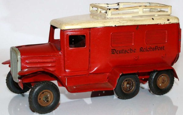 Goeso Tin-Trucks Hanomag German empire mail with clockwork