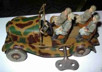 Tippco Military-Vehicles Military car with clockwork,...