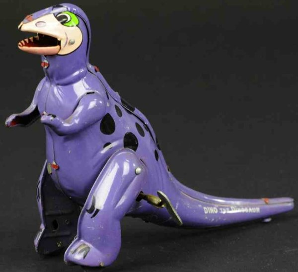 Linemar Tin-Figures Flintstones dino wind-up toy, Hanna-Barbera Productions 196