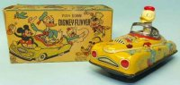 Linemar Tin-Other-Vehicles Donald Duck Disney Flivver...