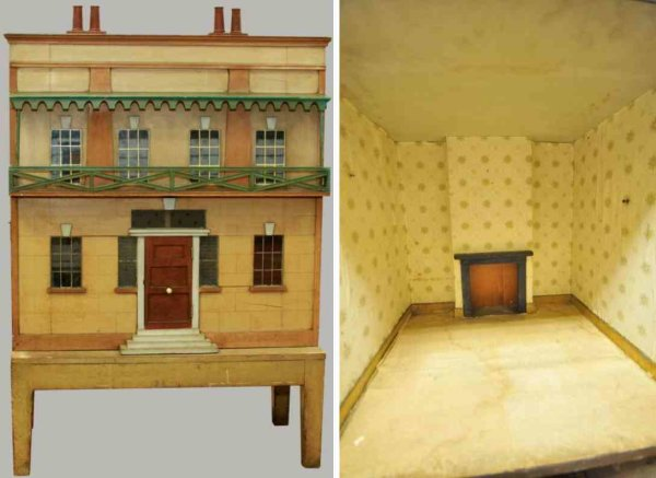 Hacker Christian Dollshouses -Accessories Dollhouse, this 19th century house has original exterior f