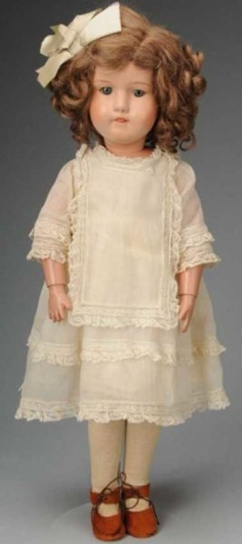 Schoenhut Dolls Wooden Doll Miss Dolly, face with blue sleeping eyes, pain