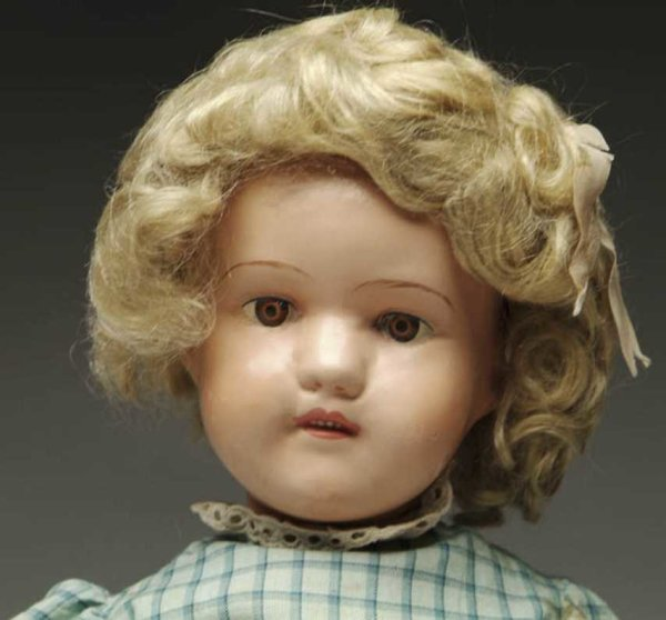 Schoenhut Dolls Miss Dolly open/closed mouth, brown decal eyes, wearing repl