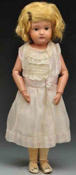 Schoenhut Dolls Miss Dolly, doll made of wood and spring jointed with Schoen