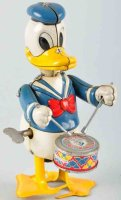 Linemar Tin-Figures Donald Duck the drummer made of tin...