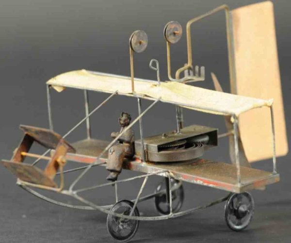 Unknown Tine Ariplanes Pusher bi-plane, made in Germany, based on early Wright Bros