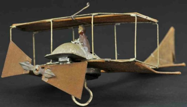 Guenthermann Tine Ariplanes Very early airplane, this toy is hand painted and features c