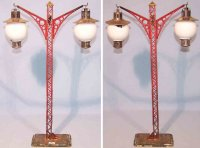Bing Railway-Lamps/Lanterns Double lamp made of tin and...