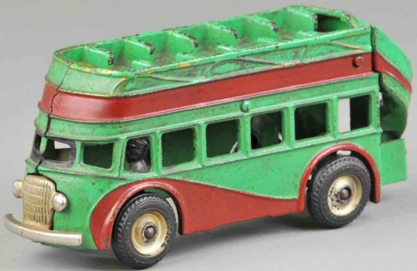 Arcade Cast-Iron buses Double decker bus, cast iron, painted in green with painted