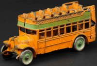 Kenton Hardware Co Cast-Iron buses Double decker city...