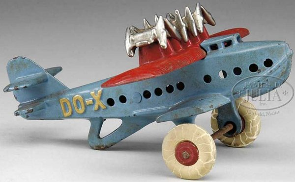 Hubley Cast-Iron Airplanes Cast iron DO-X airplane, without a doubt, one of the hardest