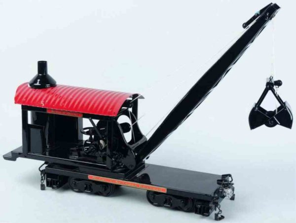 Buddy L Tin-Tugs/Rollers Pressed steel T productions dredge car, in black and red